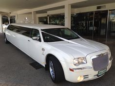 Bellagio Limousines' Classic White Chrysler Limousine. Limo Hire Perth 9240 6969. http://www.bellagiolimousines.com.au/