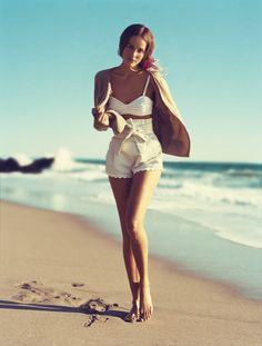 Beach outfit.