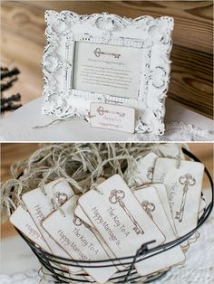 advice tags for reception @weddingchicks
