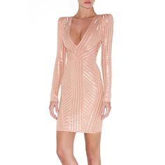 BNWT PINK WITH SEQUINS BANDAGE DRESS - EXPRESS DELIVERY