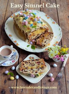 Easy Simnel Cake - Lavender and Lovage Baking Recipes, Cake Recipes, Simnel Cake, Lemon Drizzle Cake, Spring Cake, Cake Mixture, Milk And Eggs, Take The Cake, English Food