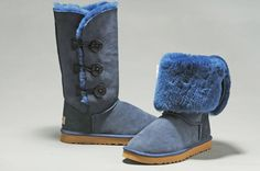 Bailey Button Triplet Navy Ugg Boots