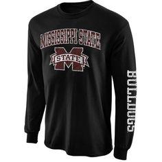 Mississippi State Bulldogs Big Arch N' Logo Long Sleeve T-Shirt – Black - Fanatics.com