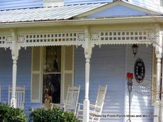 Pretty  Victorian farmhouse running porch trim via Front-Porch-Ideas-and-More.com #porch