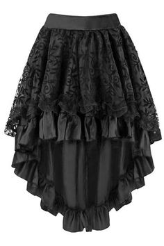 Craving for layers for your Steampunk look? Here is our Atomic Black Satin Tiered Lace Skirt for you.   Get it here: https://atomicjaneclothing.com/products/atomic-black-satin-tiered-lace-skirt