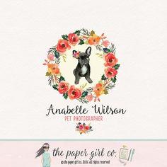 pet photography logo french bulldog logo pet by ThePaperGirlCo