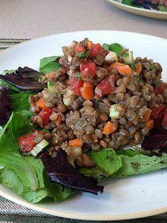 lentil salad recipe all ready to serve