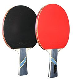 MAPOL 4 Star Table Tennis Paddle Advanced Trainning Ping Pong Racket With Carry Case ( 2PCS)