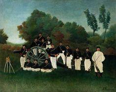 Collection Online   Henri Rousseau. Artillerymen (Les artilleurs). ca. 1893–95 - Guggenheim Museum