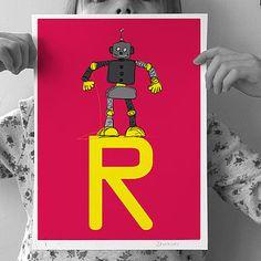 Personalised 'Robot' Print