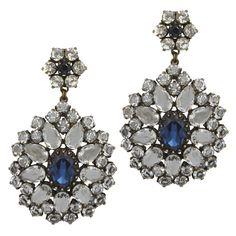 badgley mischka Jewelry | Badgley Mischka Lucretia Sapphire Drop Earrings