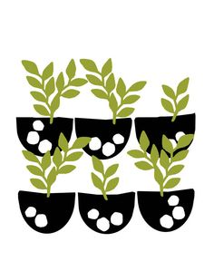 seedlings print - by modern radar, via Etsy.