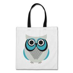 Retro Beautiful Owl Canvas Bag