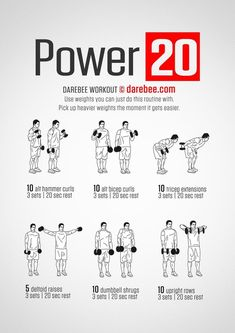 Darbee Workout, Dumbbell Workout Plan, Arm Workout Men, Workout Plan For Men, Workout Routine For Men, Aerobics Workout, Gym Workouts, At Home Workouts, Arm Workouts For Men
