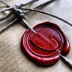 Loving the vintage feel of this old wax seal.