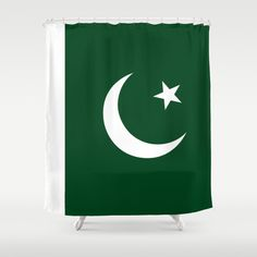 The National Flag of Pakistan - Authentic Version Shower Curtain by LonestarDesigns2020 - Flags Designs + - $68.00