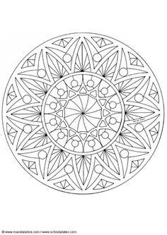Disegno da colorare mandala-1502u