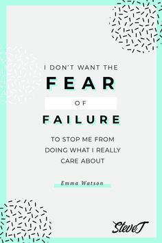 I don't want the fear of failure to stop me from doing what I really care about. #affiliatemarketing 100 Free, Business Opportunities, Affiliate Marketing, Blog, Blogging