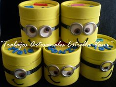 alcancia minion Tin Can Art, 3 Minions, Minion Party, Decoupage Vintage, Movie Party, Ideas Para Fiestas, Decorated Jars, Childhood Education, Crafts To Make