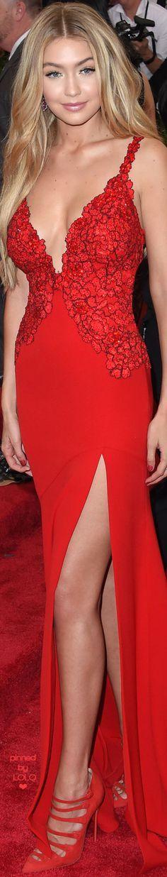 Gigi Hadid in Diane Von Furstenberg 2015 MET Gala   LOLO❤︎