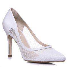 86c0b34a0b Sapato Feminino Noiva Salto Alto Tela Gliter Branco - SE4986 » Noiva.  durvalcalcados.com.br