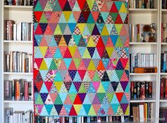 Blue is Bleu: Triangle Baby Quilt