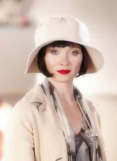 Essie Davis as Miss Phryne Fisher in Miss Fisher's Murder Mysteries an ABC (Australia) series about a flapper detective. Description from pinterest.com. I searched for this on bing.com/images