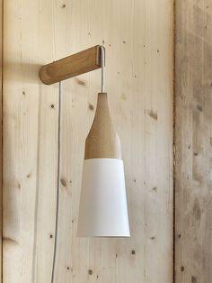 Direct light wooden wall lamp SLOPE | Wall lamp - Miniforms