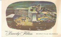 Vintage Postcard - Beverly Hills Hilton Hotel  CA 1960 California