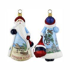 Glitterazzi International Dominican Santa Ornament