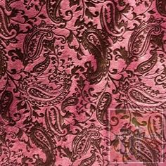 Paisley Brown on Pink Minky Snuggle Print www.distictivefabric.com