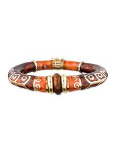 Fidia Gioielli Enamel Bangle Bracelet