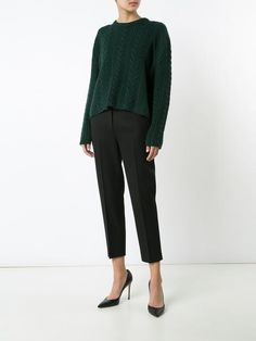 Ryan Roche cable knit cropped jumper
