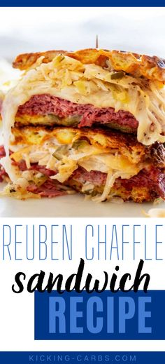 Sandwiches without the carbs? Count me in! This Keto Reuben Chaffle Sandwich is every bit as good as the original. A crunchy chaffle with caraway seeds and a punchy sauce will keep you coming back for more. Keto Lunch Ideas, Lunch Recipes, Easy Dinner Recipes, Real Food Recipes, Breakfast Recipes, Easy Meals, Ketogenic Recipes, Low Carb Recipes, Caraway Seeds