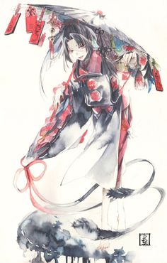 Embedded Touken Ranbu Characters, Anime Characters, Manga Art, Anime Art, Mutsunokami Yoshiyuki, Anime Kimono, Gear Art, Air Gear, Watercolor Art
