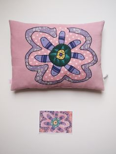 Création textile Zut! pièce unique Dessin de Léane 6 ans. http://www.atelier-zutfrance.com/
