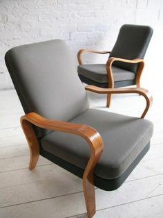 Retro vintage lyon and armchairs on pinterest - Vintage lyon lounge ...