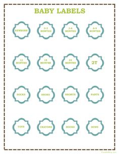 Free Baby Clothes Storage Bin Labels Free Printables Pinterest