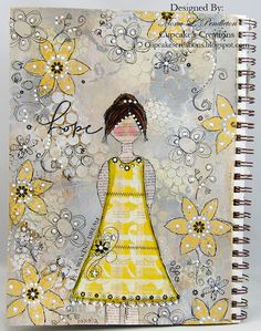 An art journal page made using fun patterned paper from the Pink Paislee She Art collection by Mona Pendleton for you Dillon Dillon Journal D'art, Art Journal Pages, Art Journaling, Journals, Journal Covers, Journal Prompts, Journal Ideas, Notebooks, Bullet Journal