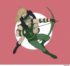 Green Arrow and Black Canary by Doubleleaf