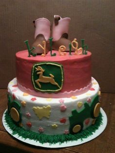 That John Deere girl cake is so nice my cousin like it's so much!