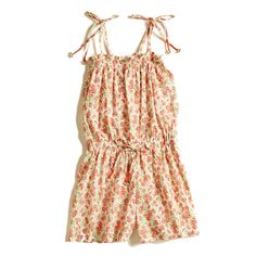 Girls Cotton Ditsy Floral Playsuit/Short