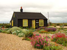Derek Jarman's garden in Dungeness Kent