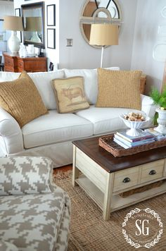 "Tips on Buying a Sofa - recommends high resiliency (HR) filling wrapped in down, this recommended couch is the Pottery Barn Comfort Sofa with the Perennial Performance in Ivory slipcover, regular size 83""W x 39""D x 37""H (the Grand sofa is 2"" deeper), Ethan Allen Bennett sofa also recommended"