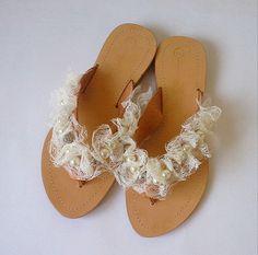 Sandalias de novia sandalias de cuero hecho a mano por MyMarmade