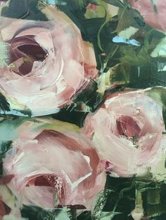 Nicole Pletts saved to Nicole Pletts paintings - blomme - Detail pink Roses - July 2014 Action Painting, Painting & Drawing, Oil Painting Flowers, Abstract Flowers, Rose Art, Oeuvre D'art, Art Oil, Painting Inspiration, Flower Art