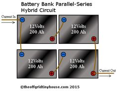 battery bank parallel-series hybrid circuit