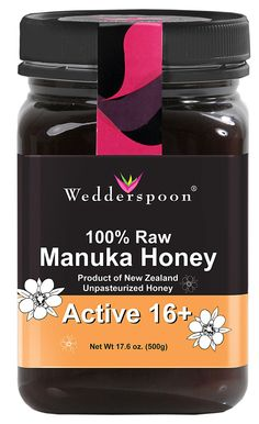 Manuka honey has ADDITIONAL antimicrobial activity due in part to methylglyoxal, or MGO, found in the New Zealand Manuka bush (Leptospermum Scoparium).