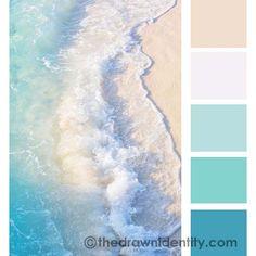 Ocean Color Palette, Beach Color Palettes, Bedroom Colour Palette, Color Schemes Colour Palettes, Ocean Colors, Colour Pallette, Color Palate, Instagram Theme Ideas Color Schemes, Blue Pallets