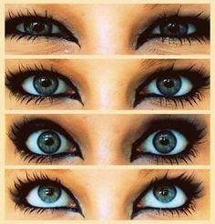 Eyes, make up, eyeliner, black, blue. Pretty Eyes, Beautiful Eyes, How To Look Pretty, Amazing Eyes, Hey Gorgeous, Beautiful Couple, Beautiful Images, Makeup Tips, Beauty Makeup